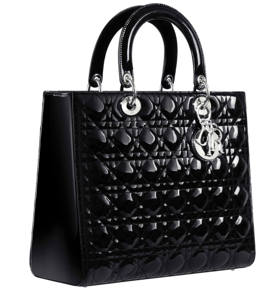 Dior-Large-Lady-Dior-bag-in-black-patent-leather-1