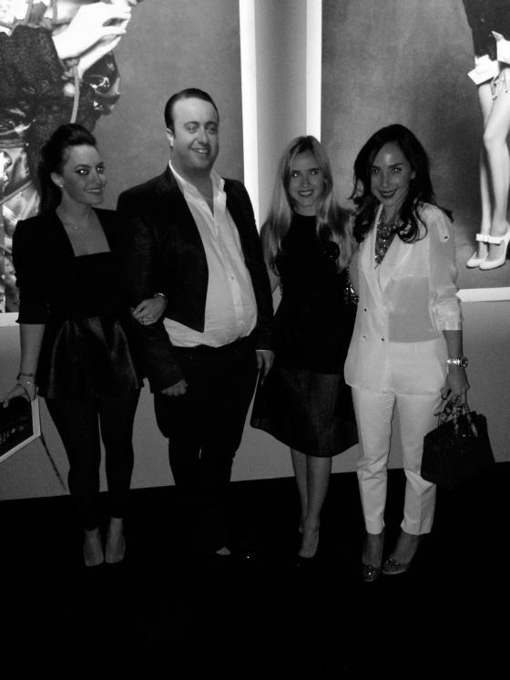 Left to right: Karen Wazen, Designer Rani Zakhem, me, and Dana Hourani.