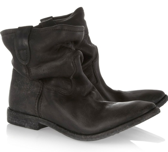 Isabel Marant slouchy leather ankle boots, perfect with skinnies and a vintage denim jacket (preferably Levi's)