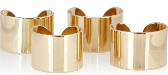 Maison Martin Margiela Set of four gold-tone knuckleduster rings