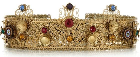 Dolce & Gabbana gold-plated Swarovski crystal crown. £1,225.25
