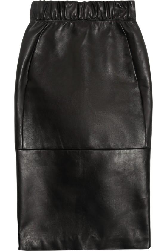 Neil Barrett nappa leather pencil skirt