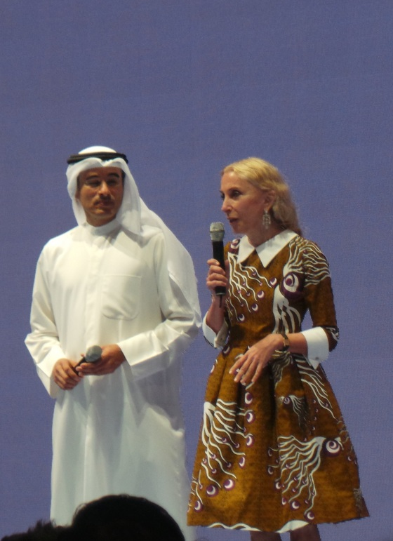 Franca Sozzi and Emaar properties CEO Mohammad Alabbar