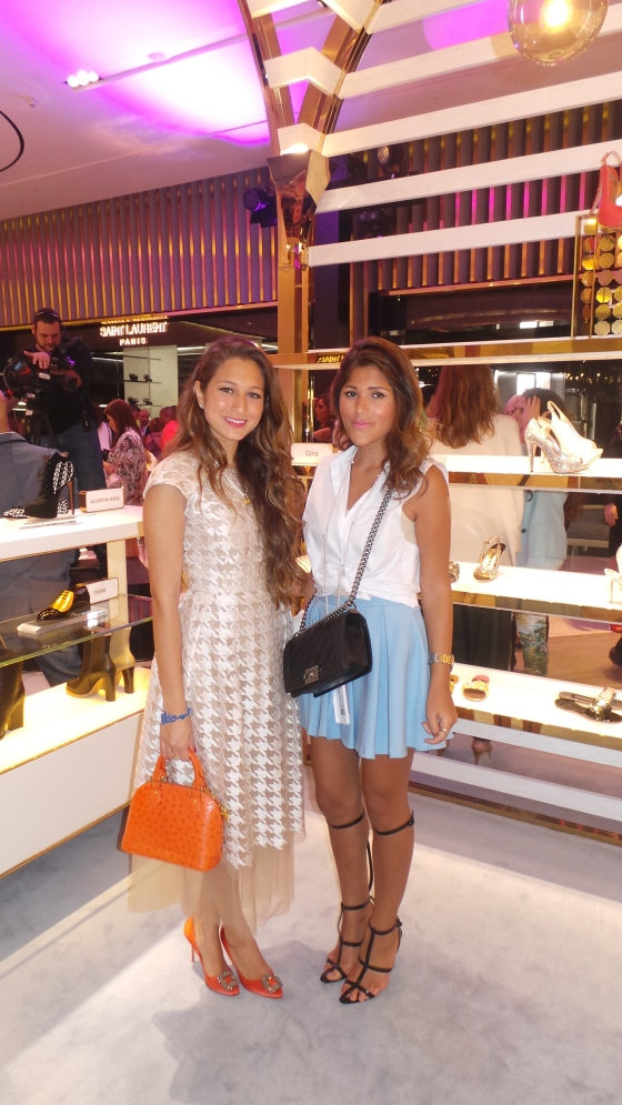 Dana Malhas of Cream  Jeddah (left) and Deena Khourshid