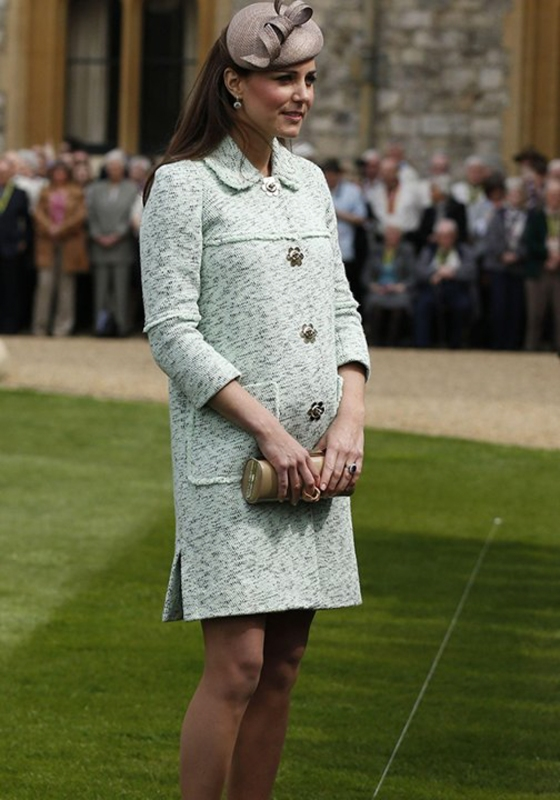 5- Kate Middleton in Mulberry