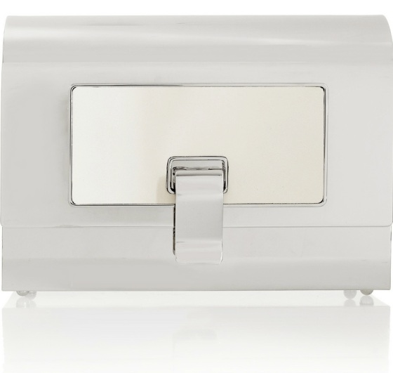 PROENZA SCHOULER Minaudière silver-tone box clutch Was £1,954.11 Now £1,367.87