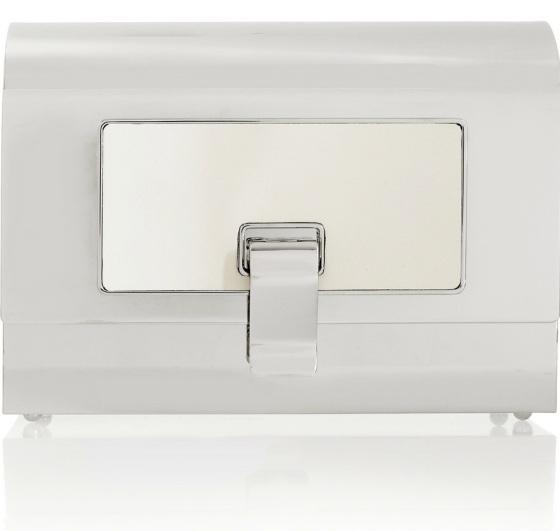 PROENZA SCHOULER Minaudière silver-tone box clutch Was £1,954.11 Now £1,367.87